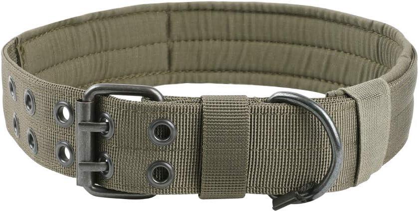 Eccellente Elite Spanker Nylon tattico Militare Collare Regolabile Formazione Collare con Anello a D in Metallo a Doppia Fibbia