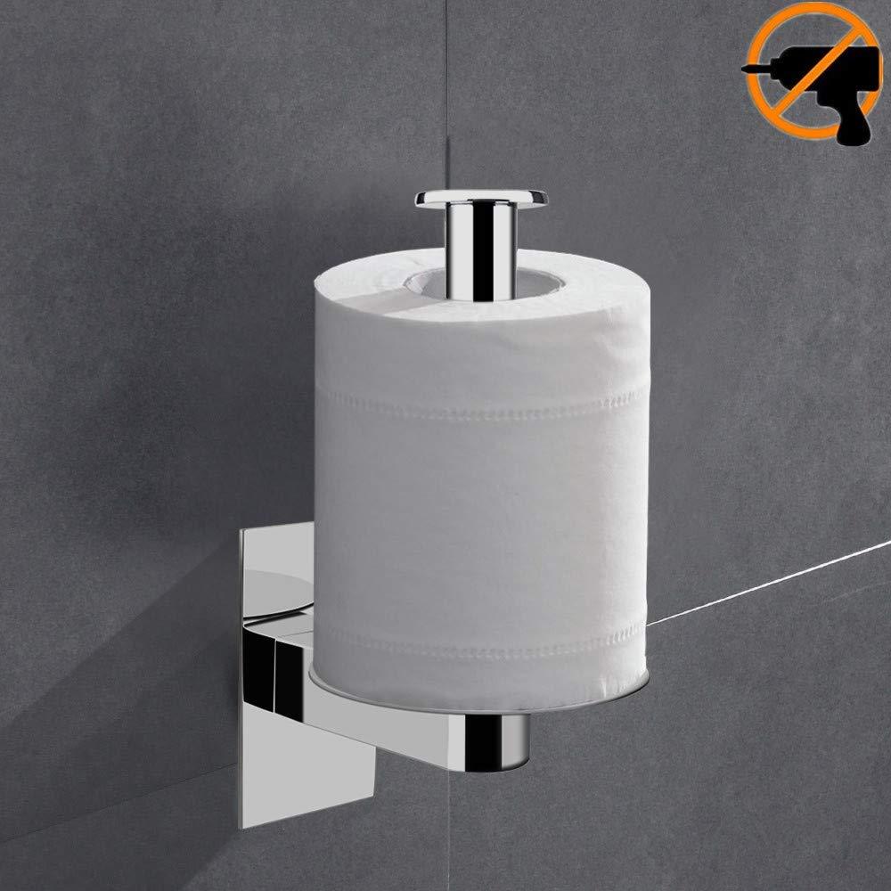 304 Acciaio Inossidabile 3M adesivo autoadesivo lucido Orizzonte verticale Accessori bagno Lolypot Porta carta igienica Portarotolo WC Porta Rotolo senza perforazione