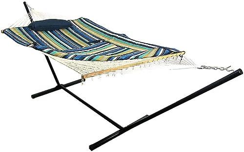 Sunnydaze Cotton Rope Freestanding Hammock