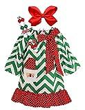 Girls Boutique Clothing Christmas Holiday Santa Dress Set Chevron 2T/S
