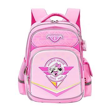 Mochila escolar para niños Mochila para niñas de 7-10 años Mochila rosada linda para