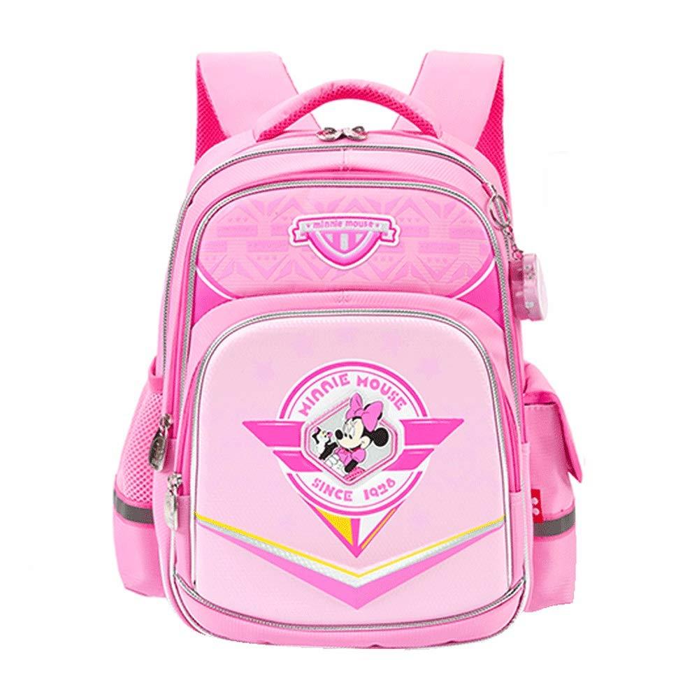 Borsa da scuola - Borsa da scuola per bambini Donna 7-10 anni di età Allievi Cute rosa Princess Zaino Borsa morbida traspirante Borsa riflettente di sicurezza a grande capacità [invia Sacchetto della
