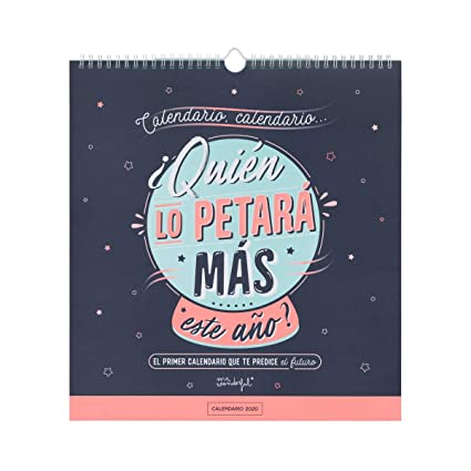 Mr. Wonderful WOA09847ES, Calendario de Pared 2020, Talla Única ...