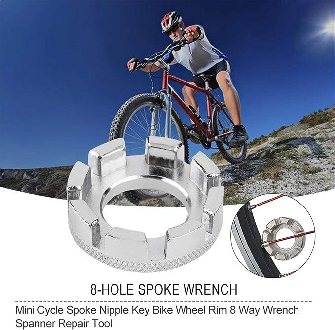 Bicycle Bike 8-Way Spoke Nipple Key Wheel Rim Wrench Spanner Repairing Parts new