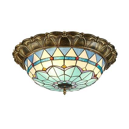Plafoniera Led Tiffany.Amazon Com Ztj Lighting Led Tiffany Style Ceiling Lights