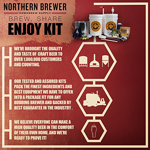 Brew. Share. Enjoy. Homebrew 5 Gallon Beer Brewing Starter Kit with Chinook IPA Beer Recipe Kit and Brew Kettle by Northern Brewer (Image #6)