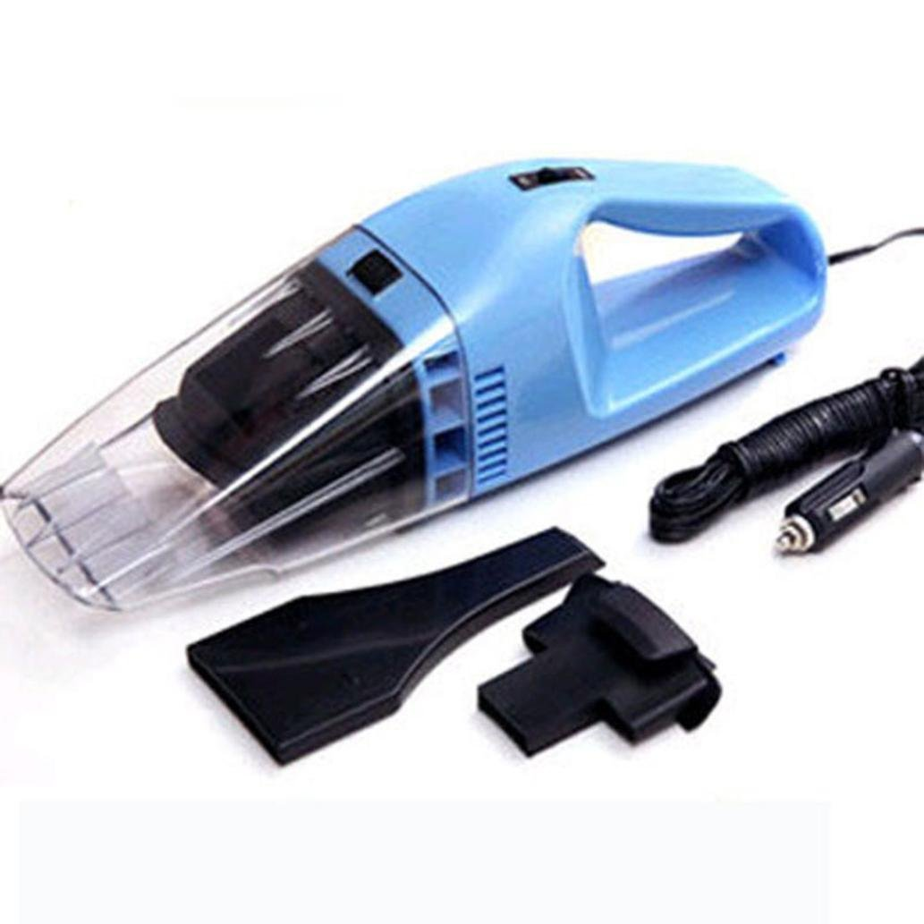 Portable Car Vacuum Cleaner,Elevin(TM) Super Suction 12V High-Power Wet and Dry Portable Handheld Vacuum Cleaner (blue)