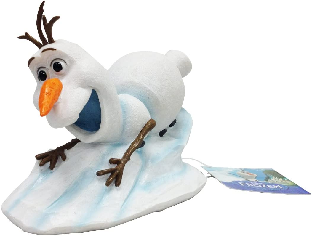 Penn-Plax Officially Licensed Disney's Frozen Sliding Olaf Ornament: Instantly Create an Underwater Frozen Scene, Perfect for Fans of Disney's Frozen! Perfect for Fish Tanks and Aquariums! (FZR2)