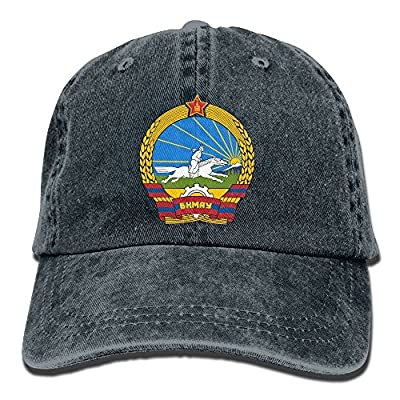 Men and Women Cap Coat of Arms of Mongolia Unisex Flat Bill Hip Hop Cap Baseball Hat Head-Wear Cotton Snapback Hats Red by Brecoy