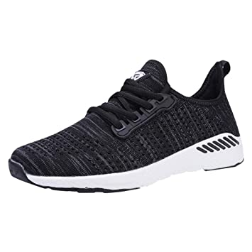 Mens Sneakers Running Shoes Breathable Mesh Casual Lace-up Sport Gym Walking