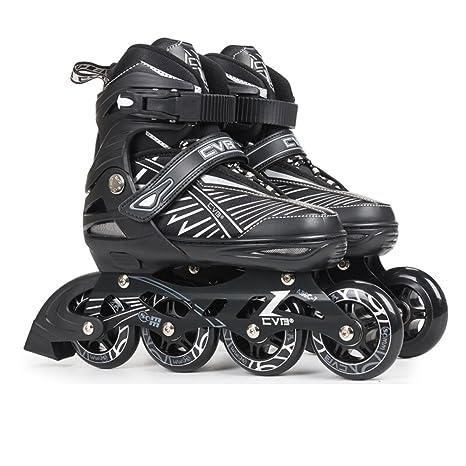 Sunkini Patines para niños iluminables patines en línea con ruedas de luces completas, patines de