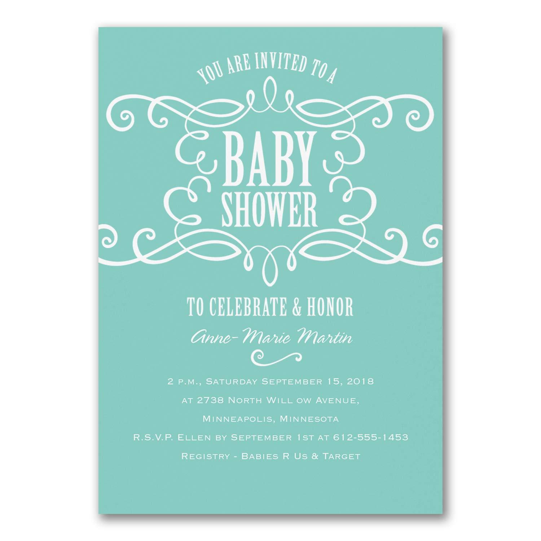 150pk Sweet Swirls - Baby Shower Invitation-Shop All Baby