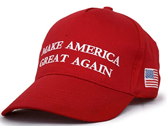 Besti Make America Great Again Donald Trump Slogan with USA Flag Cap  Adjustable Baseball Hat Red at Amazon Men s Clothing store  5debbddeadd