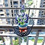 17x12x22cm Versatile Lightweight Metal Plants Stand Flowerpot Shelf for Outdoor
