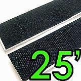 Electriduct 1/2' Self Adhesive Hook & Loop Sticky Back Tape Fabric Fastener - 25 Feet