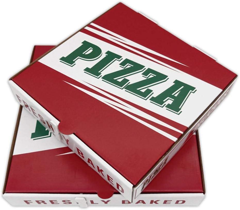 Caja de embalaje Pizza, rectángulo for llevar el embalaje, caja de alimentos, desechable, el cartón grueso corrugado, caja de almacenamiento de alimentos, caja de envasado de alimentos de aperitivos,: Amazon.es: Hogar