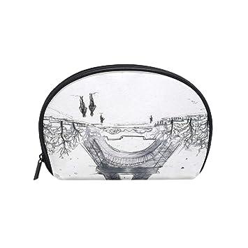 f14eb63cbd53 Amazon.com : Cosmetic Bag Black And White Paris Eiffel Tower ...
