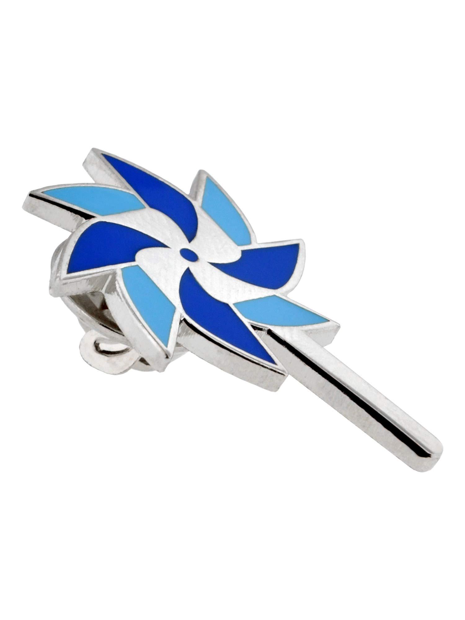 PinMart Child Abuse Awareness Blue Pinwheel Enamel Lapel Pin by PinMart (Image #2)