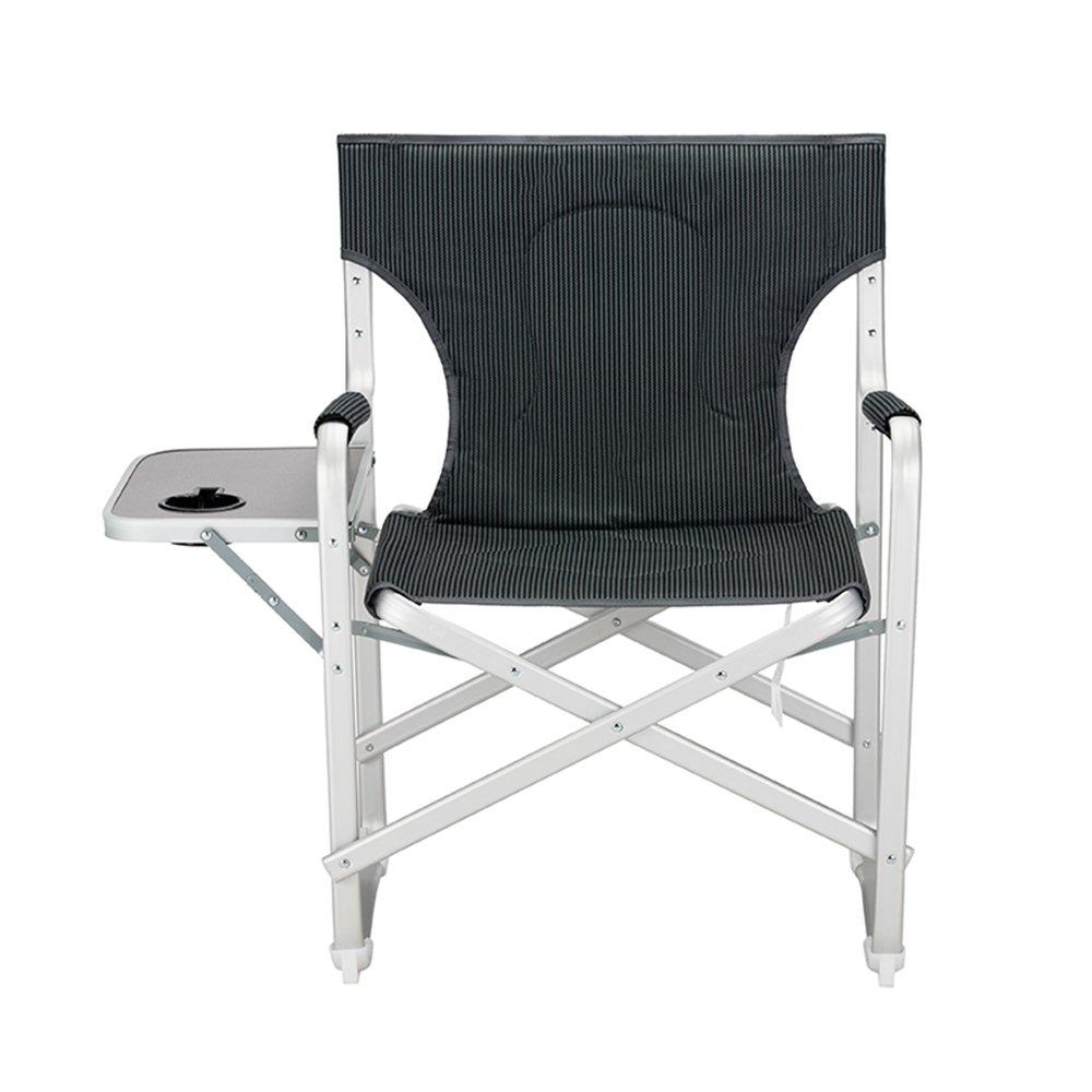 GHM Campingstuhl Tragbare Klappstuhl Aluminiumlegierung Mit Armlehnen Komfortable Strand Angeln Camping Stuhl Direktor Stühle (87  54  84 cm)