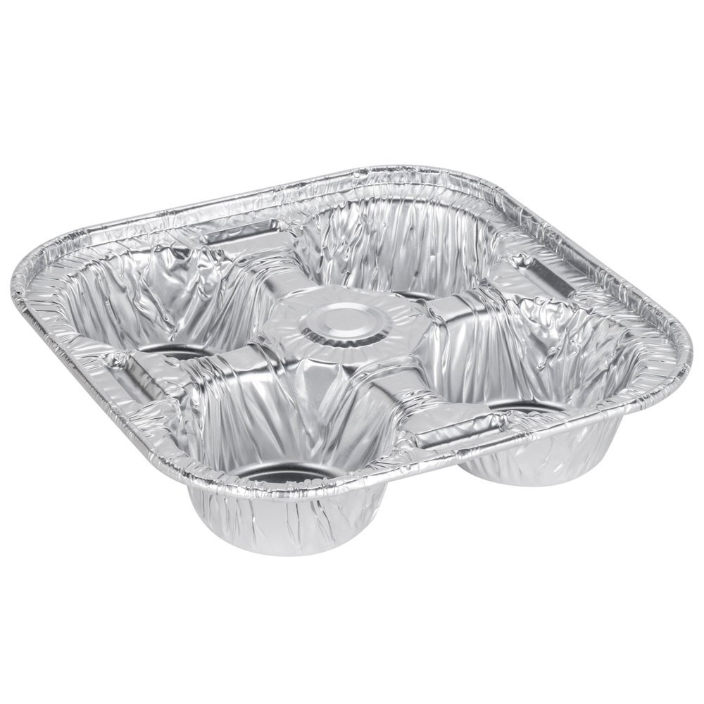 D&W Fine Pack D93 4 Cavity Foil Texas / Jumbo Muffin Pan - 25/Pack