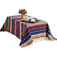 Large Authentic Mexican Blanket Colorful Serape Blanket, Lightweight Handmade Mexican Saltillo Blanket, Classic Mexican Style Falsa, Stripe Pattern, Throw, Beach Blanket Tapestry, Yoga Blanket
