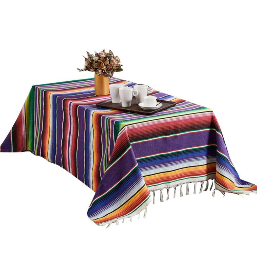 Godya Manta De Playa Manta para Acampar Alfombra De Picnic Estera De Viaje Port/átil Algod/ón Borla Mantel Siesta Manta S/ábanas Funda Tapicer/ía Tapicer/ía Rainbow Stripe