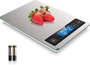 Nicewell Food Scale, 22lb Digital Kitchen Scale Weight Grams and oz for Cooking Baking, 1g/0.1oz Precise Graduation, Stainless Steel and Tempered Glass