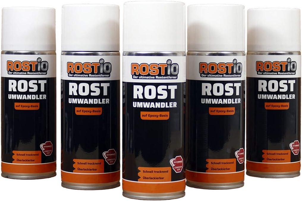 Rostio 5 X Epoxy Rostumwandler Spray 400ml Rostkonverter Auto