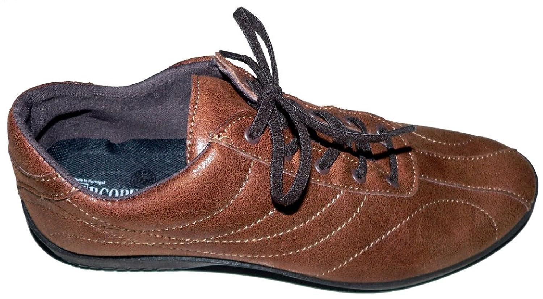 Arcopédico - L17H - Zapatos para hombre de Arcopédico, muy cómodos, en color marrón, con doble soporte del arco y empeine flexible. Además son muy ligeros y tienen un cierre con cordón flexible. (40)
