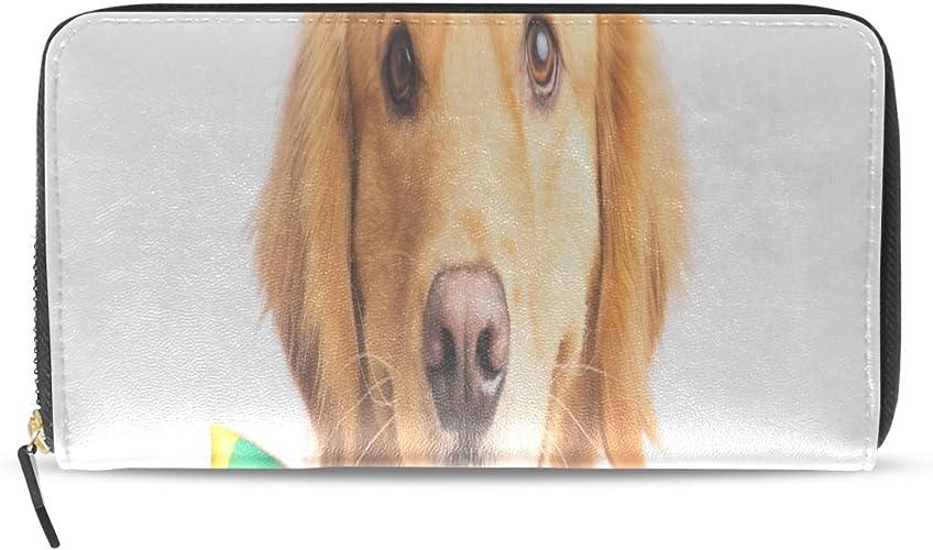Plsdx Lindo feliz perro corbata largo pasaporte embrague monederos ...