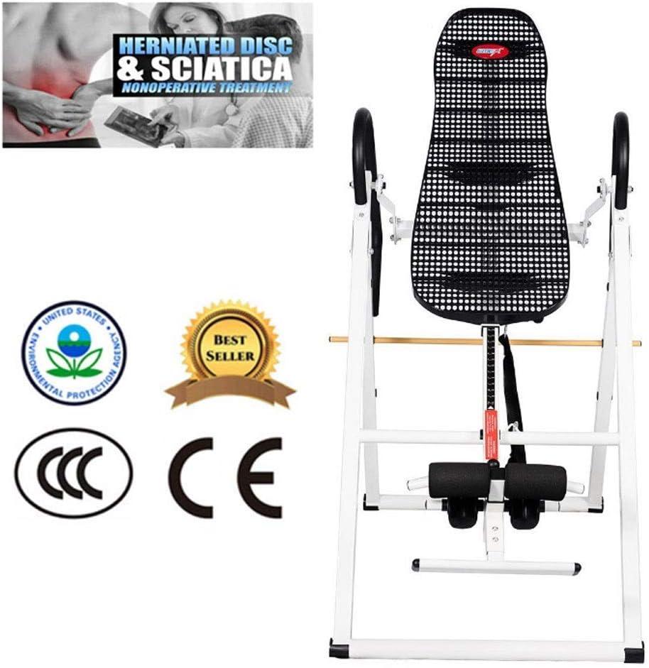 LY88エクササイズフィットネス反転表反転表、重力折りたたみ、効果的な治療ヘルニア皿、背中の痛み、胸のたるみ-黒