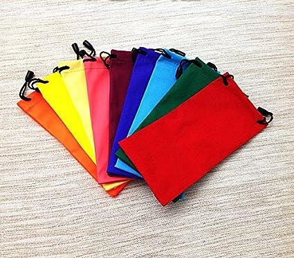 Leisial 10pcs Impermeable Bolsa Gafas de Sol PU Estuche Gafas de Sol Funda Protectora para Guarda Gafas Teléfono Móvil Joyería para Hombres Mujeres (Color al azal) AUPHXUVKF42MQN531764Y