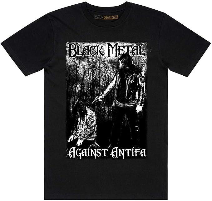 TSCFTX Black Metal Against Antifa T-Shirt: Amazon.es: Ropa y ...
