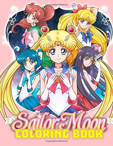 Sailor Moon Coloring Book: Great Coloring Pages for Kids - Coloring Book Moon