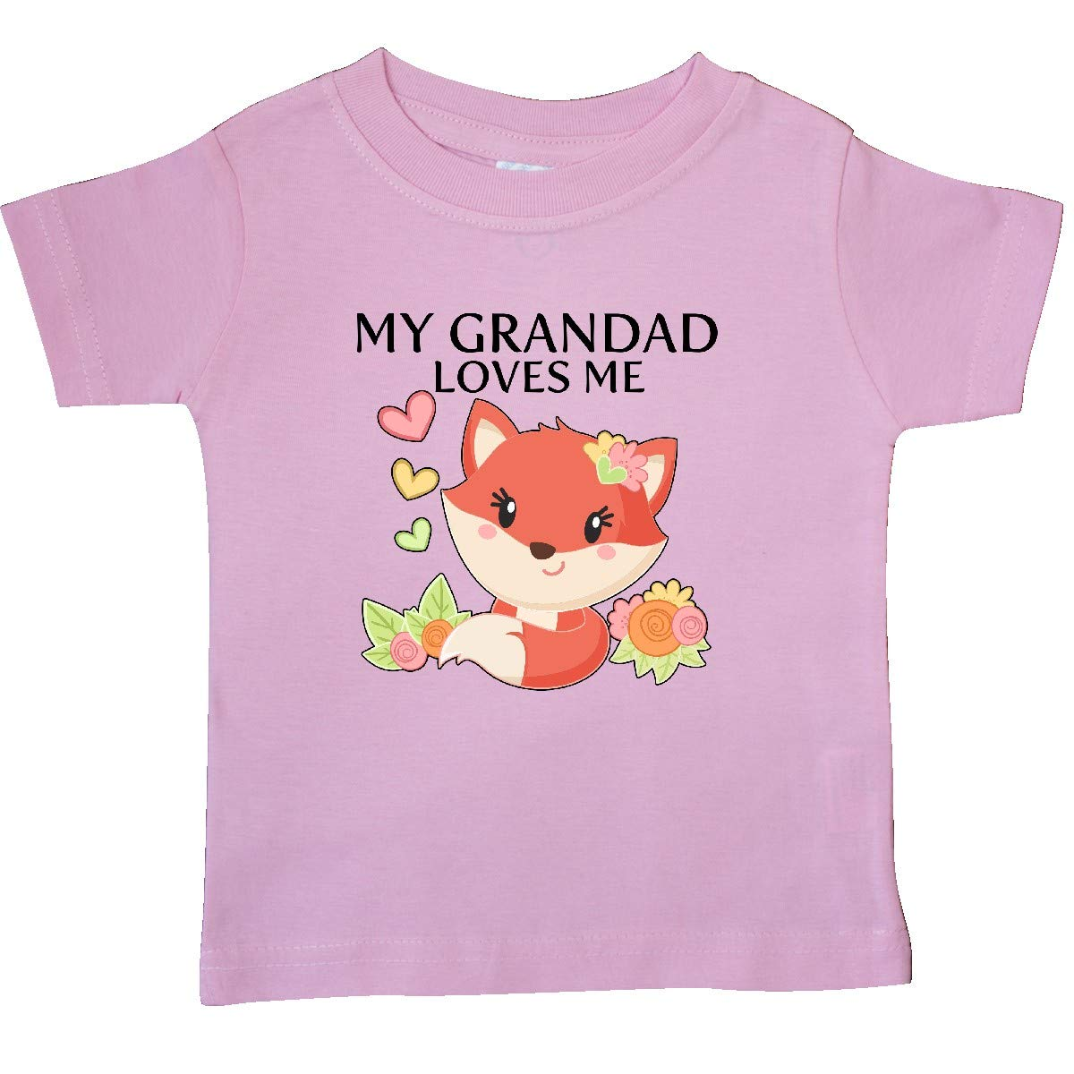 inktastic My Grandad Loves Me Little Fox Baby T-Shirt