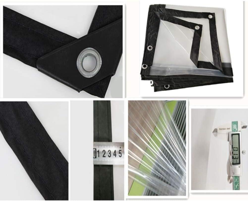 Balcon ext/érieur WZW B/âches en Tissu de b/âche en poly/éthyl/ène r/ésistant /à la poussi/ère Couleur: Transparent, Taille: 3x8m /épaisseur 0,12 mm r/ésistant au Vent 150 G // ㎡