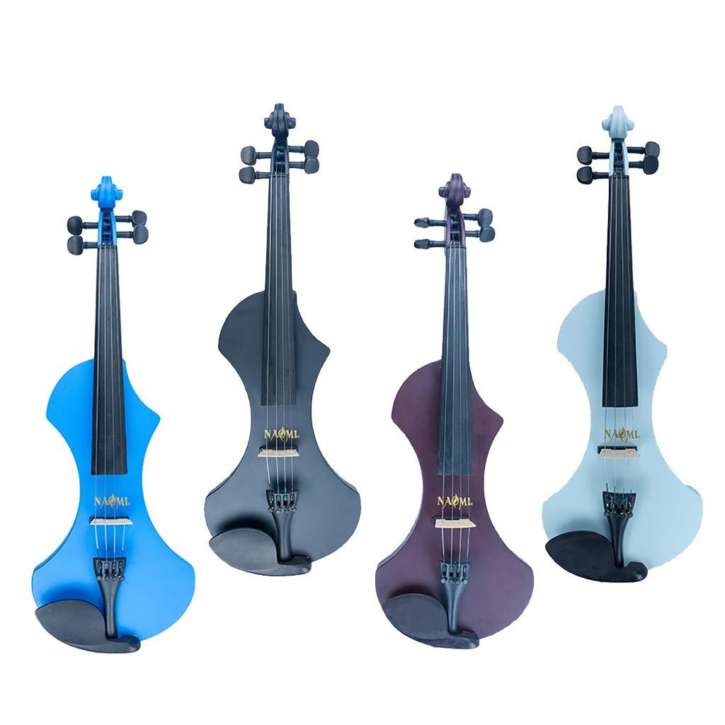 Homyl Homyl Homyl Professionelle 4/4 elektrische Violine Set, inkl. Koffer, Bogen und Kolophonium - Blau 2e36fa
