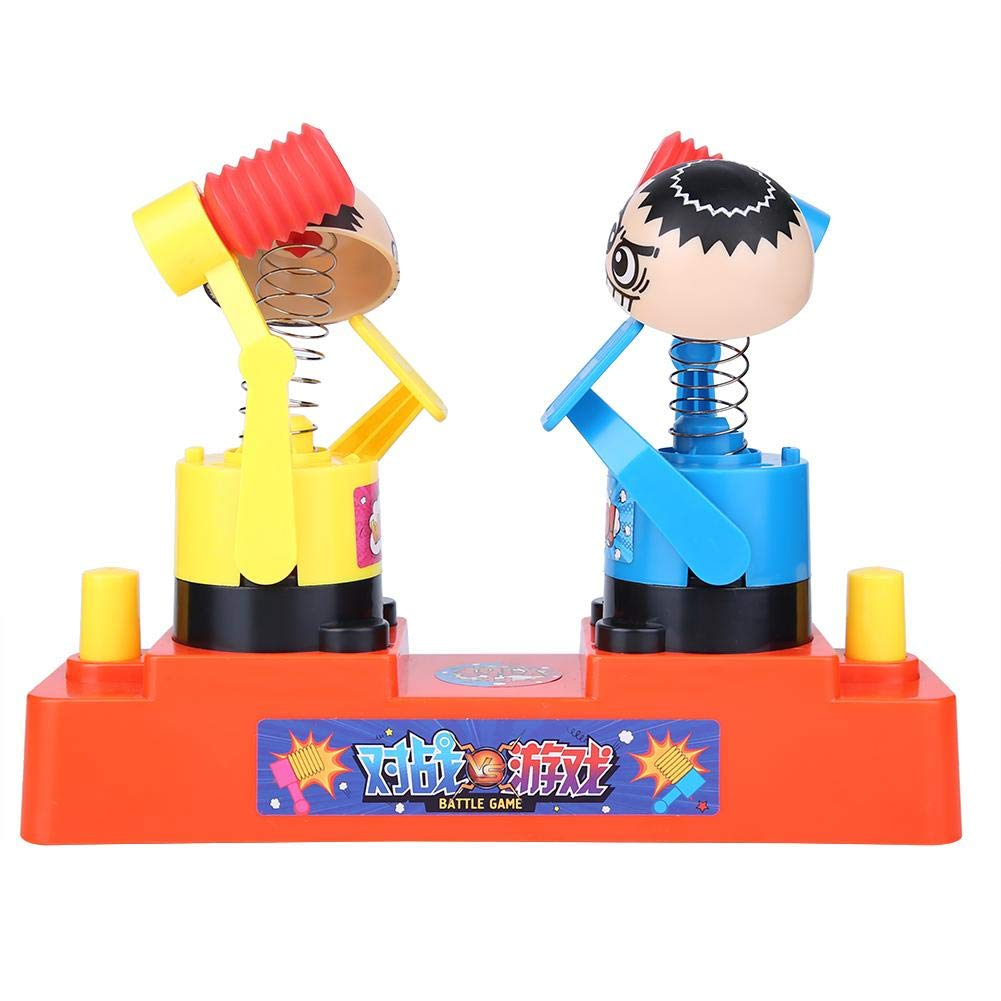 FTVOGUE Kids Funny Hand Press Double Robot en Plastique Martelant Redcuing Jouet de Jeu Interactif Rouge