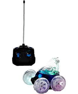 Mindscope Turbo Twisters BLUE 49 MHZ Bright LED Light Up Stunt RC Remote Control Vehicle