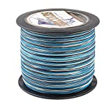 HERCULES Super Strong 1000M 1094 Yards Braided Fishing Line 80 LB Test for Saltwater Freshwater PE Braid Fish Lines 4 Strands - Blue Camo, 80LB (36.3KG), 0.48MM
