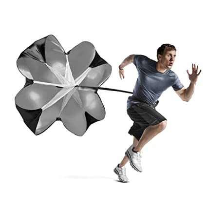 0c903f4d92a Image Unavailable. Image not available for. Color  Bioamy Running Speed  Chute Resistance Parachute 56 inch Powerchute Umbrella Training Sprint  Power Soccer ...