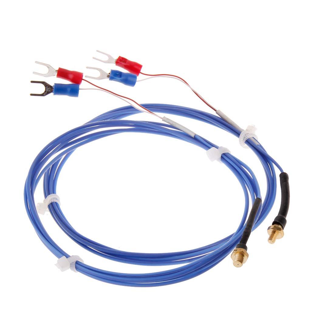 JENOR 1 PIECE M3//M4 K Type Screw Temperature Sensor Cable For Temperature Controller 2