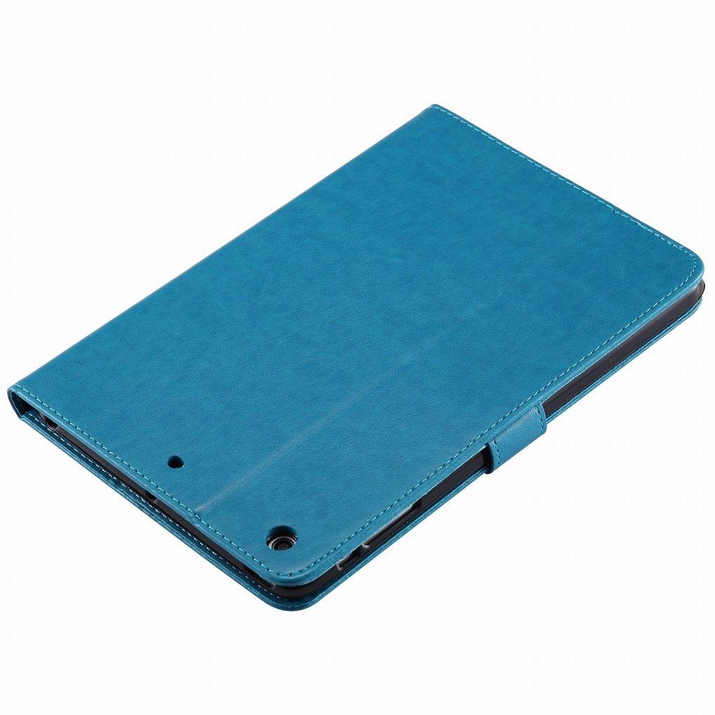 iPad Mini 2 iPad Mini 3 Etui Ougger Coque pour Apple iPad Mini Pink Lucky Leaf Housse PU Cuir Magn/étique Silicone Protecteur Flip Pochette Caoutchouc Cover avec Fente pour Carte