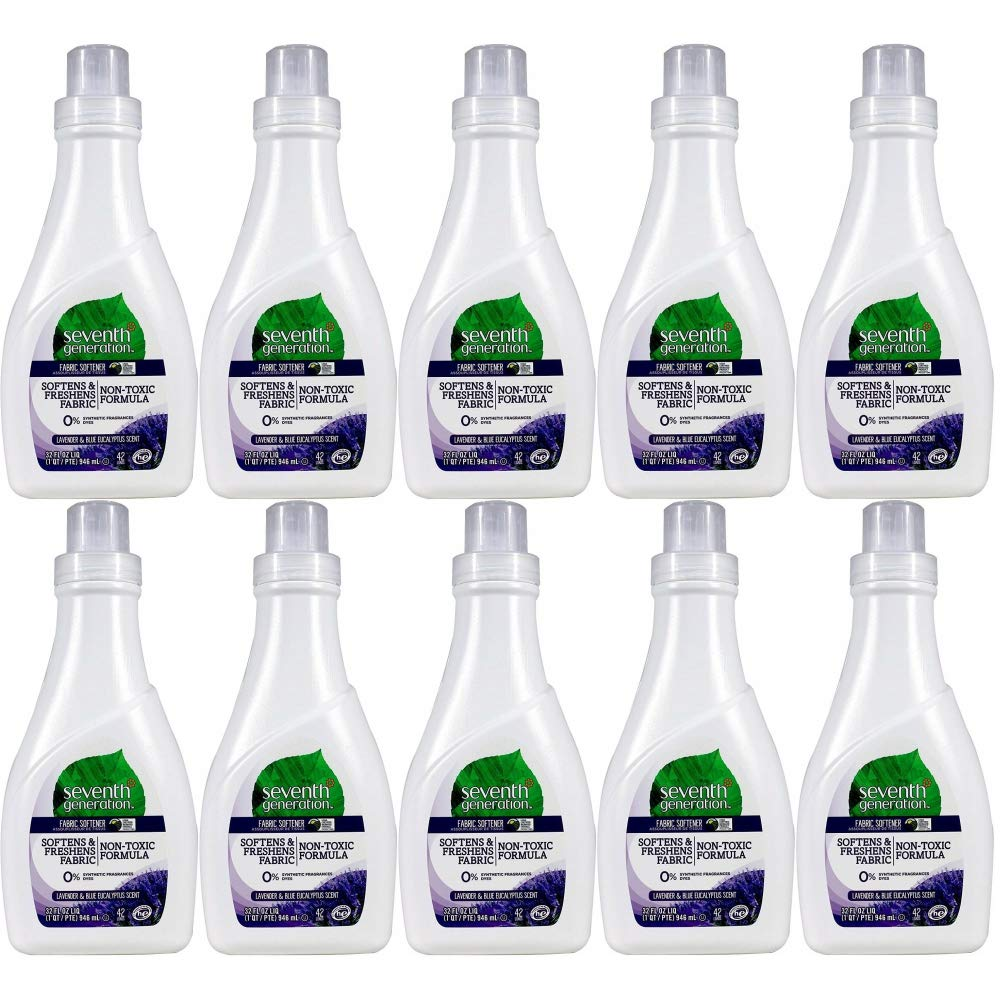 Seventh Generation Natural Fabric Softener - Blue Eucalyptus & Lavender - 32 oz - 10 pk