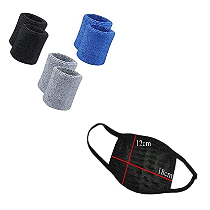 Buy R-LON Wrist Band for Sweat Men Sports Cotton (Pack of 6) Online at Low  Prices in India - Amazon.in