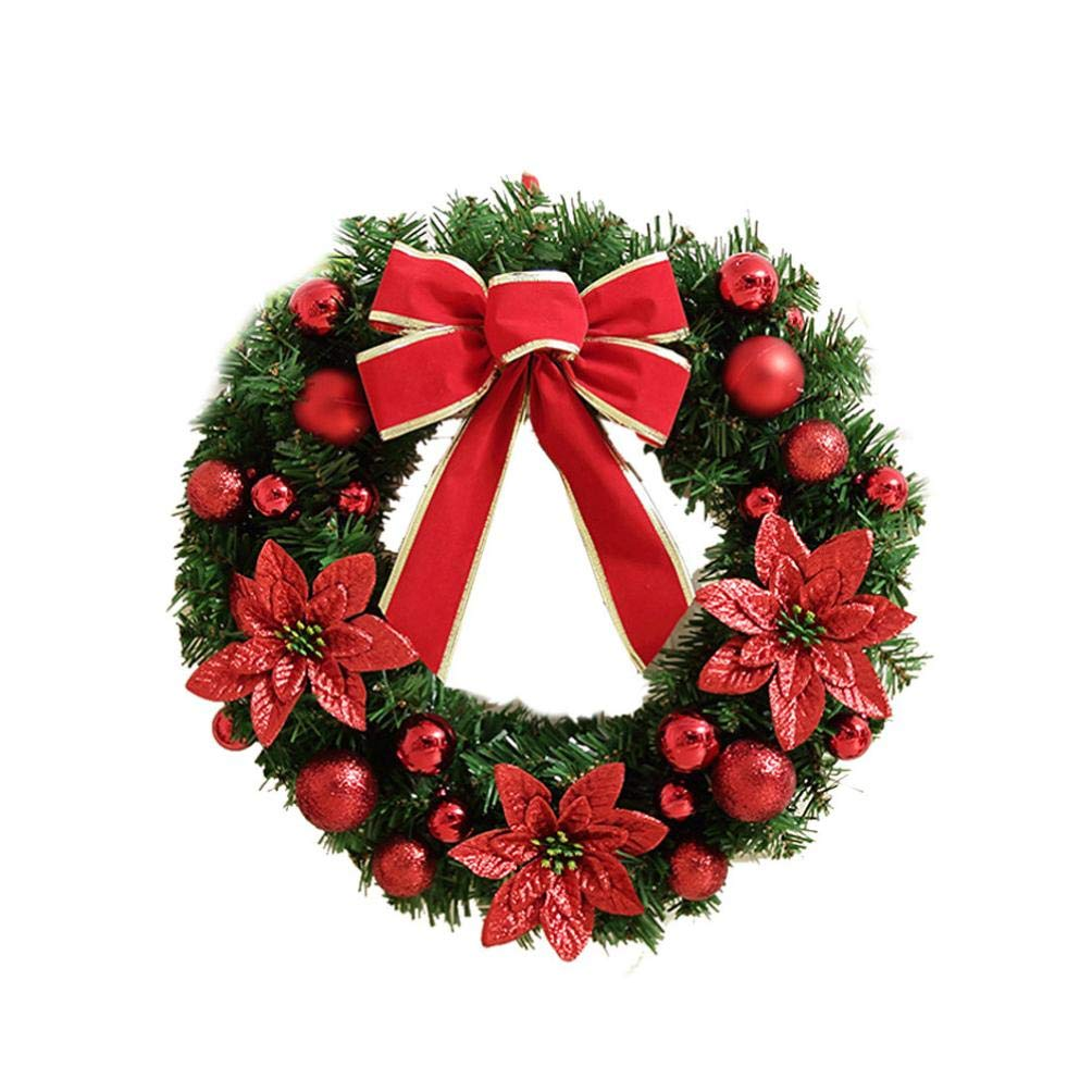 CocoMarket lamp- Artificial Christmas Holiday Wreath Berries Snowflake Decorations(Red,one size) by CocoMarket
