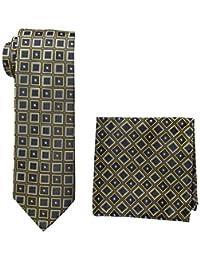Pierre Cardin - Corbata de cuello y bolsillo cuadrado para hombre