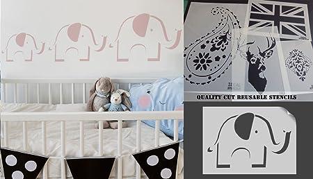cute elephant stencil nursery decor art craft stencil painting