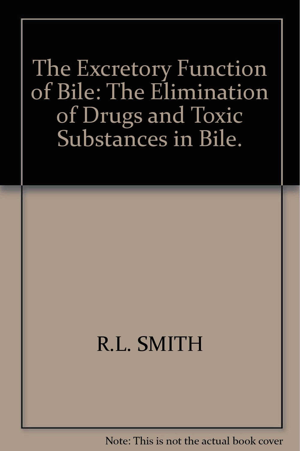 The Excretory Function Of Bile The Elimination Of Drugs And Toxic