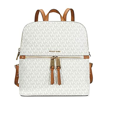 6daddb83eab7 MICHAEL Michael Kors Rhea Medium Slim Backpack (Signature Vanilla)